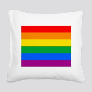 GAY PRIDE FLAG - RAINBOW FLAG Square Canvas Pillow