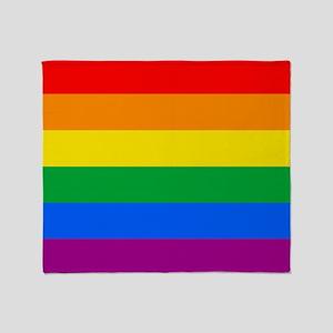 GAY PRIDE FLAG - RAINBOW FLAG Throw Blanket