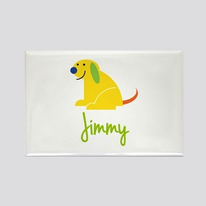 Jimmy Loves Puppies Rectangle Magnet