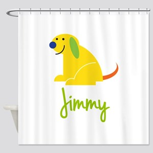 Jimmy Loves Puppies Shower Curtain