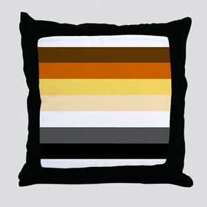 BEAR FLAG Throw Pillow