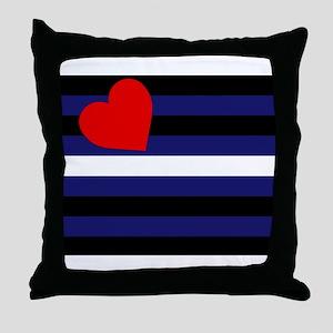 LEATHER FLAG Throw Pillow