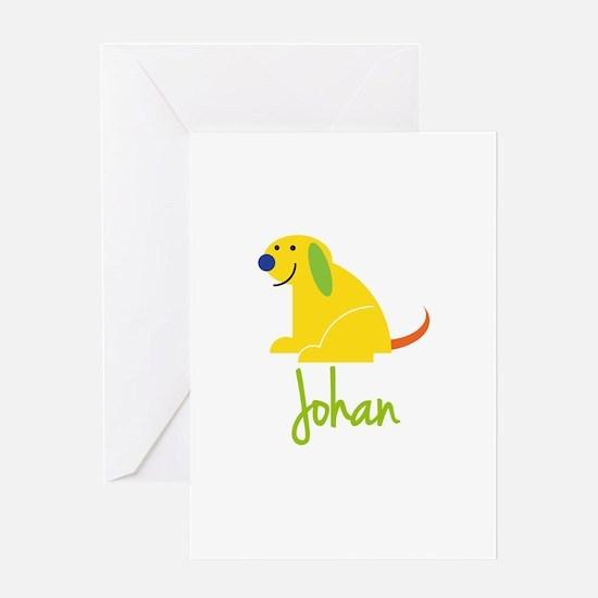 Johan Loves Puppies Greeting Card
