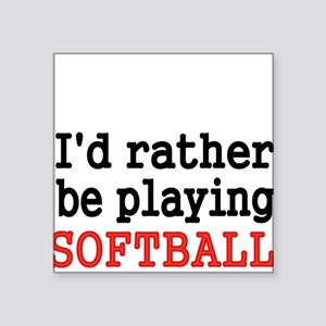 Id rather be playing Softvall Sticker