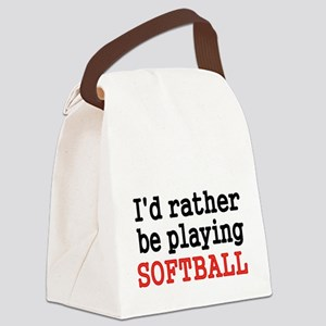 Id rather be playing Softvall Canvas Lunch Bag