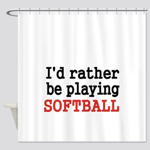 Id rather be playing Softvall Shower Curtain