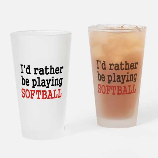 Id rather be playing Softvall Drinking Glass