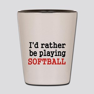 Id rather be playing Softvall Shot Glass