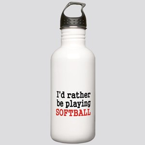 Id rather be playing Softvall Water Bottle