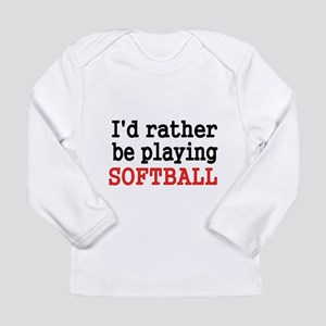 Id rather be playing Softvall Long Sleeve T-Shirt