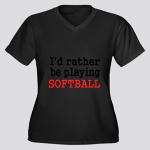 Id rather be playing Softvall Plus Size T-Shirt