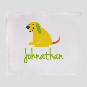Johnathan Loves Puppies Throw Blanket