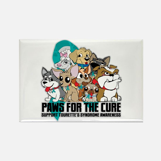 Tourette's Syndrome Puppy Group Rectangle Magnet