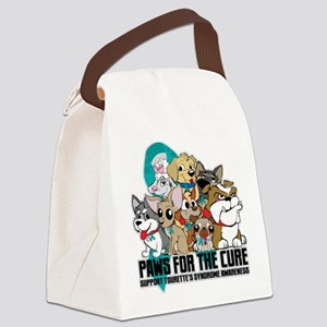 Tourette's Syndrome Puppy Group Canvas Lunch Bag
