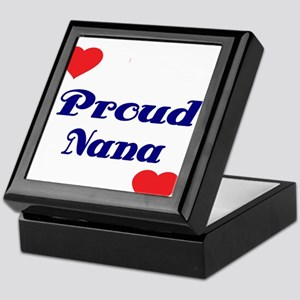 Proud Nana with hearts Keepsake Box