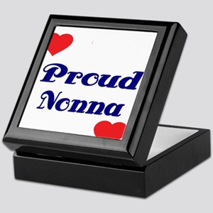 Proud Nonna with hearts Keepsake Box