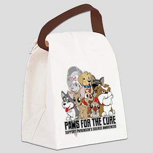 Parkinson's Disease Puppy Group Canvas Lunch Bag
