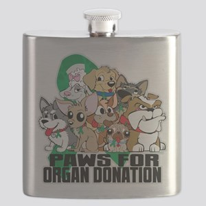 Paws for Organ Donation Flask