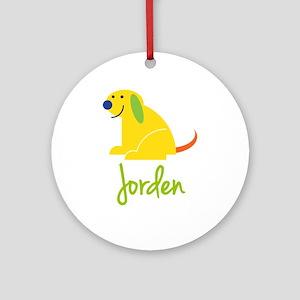 Jorden Loves Puppies Ornament (Round)