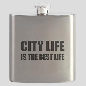 City Life Best Life Flask