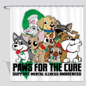 Mental Illness Puppy Group Shower Curtain