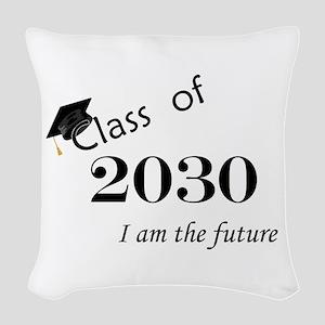 Born in 2012/Class of 2030 Woven Throw Pillow