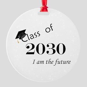 Born in 2012/Class of 2030 Round Ornament