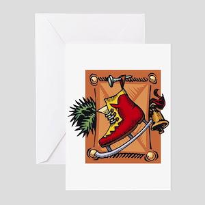 Christmas Ice Skate  Greeting Cards (Pk of 10)
