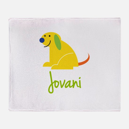 Jovani Loves Puppies Throw Blanket