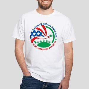 Legalize Marijuana Stop Arres White T-Shirt