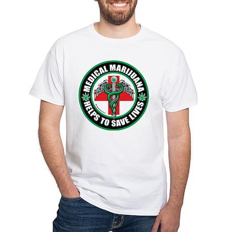 Medical Marijuana Helps White T-Shirt