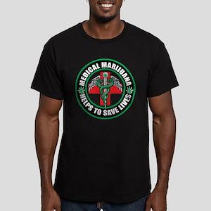 Medical Marijuana Helps Men's Fitted T-Shirt (dark