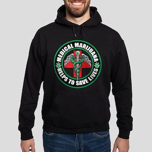 Medical Marijuana Helps Hoodie (dark)