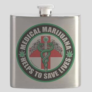 Medical-Marijuana-Helps-Saves-Lives Flask