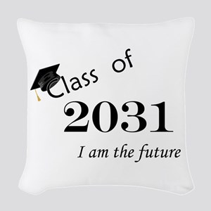Born in 2013/Class of 2031 Woven Throw Pillow