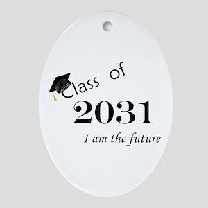 Born in 2013/Class of 2031 Ornament (Oval)