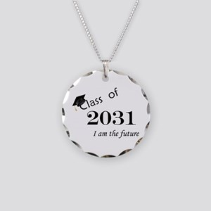 Born in 2013/Class of 2031 Necklace Circle Charm