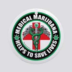 Medical-Marijuana-Helps-Saves-Lives Ornament (