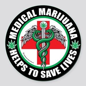 Medical-Marijuana-Helps-Saves-Lives Round Car