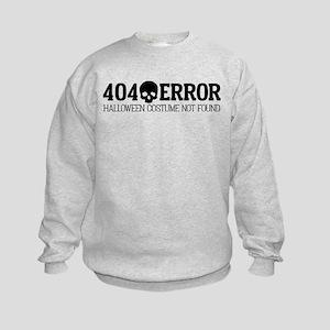 404 Error Halloween Costume Not Fo Kids Sweatshirt