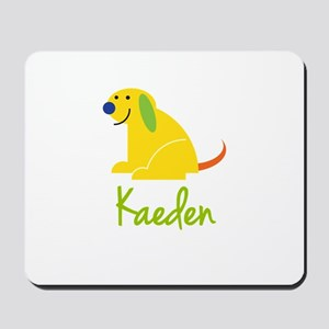 Kaeden Loves Puppies Mousepad