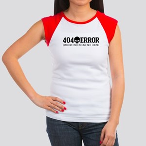 404 Error Halloween Co Junior's Cap Sleeve T-Shirt