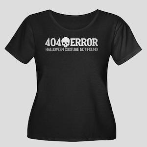 404 Erro Women's Plus Size Scoop Neck Dark T-Shirt