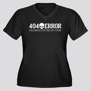 404 Error Ha Women's Plus Size V-Neck Dark T-Shirt