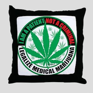 Patient-not-Criminal-2009 Throw Pillow