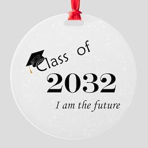 Born in 2014/Class of 2032 Round Ornament