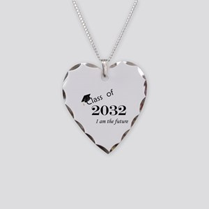 Born in 2014/Class of 2032 Necklace Heart Charm