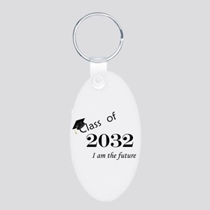 Born in 2014/Class of 2032 Aluminum Oval Keychain
