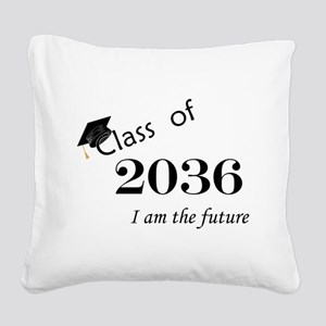 Born in 2014/Class of 2036 Square Canvas Pillow