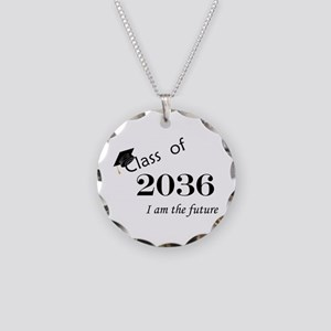 Born in 2014/Class of 2036 Necklace Circle Charm